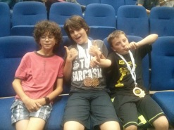 Xavier & his buddies at their robotics competition
