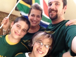 Rugby game- Springboks v. All Blacks