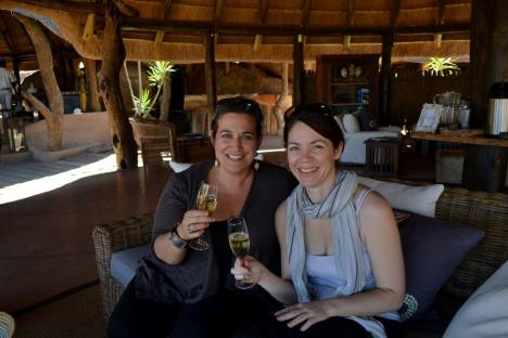 Champagne welcome at Mowani